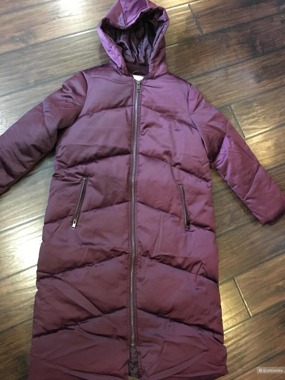 Длинное дутое пальто Asos, размер 40, на рос. 46
