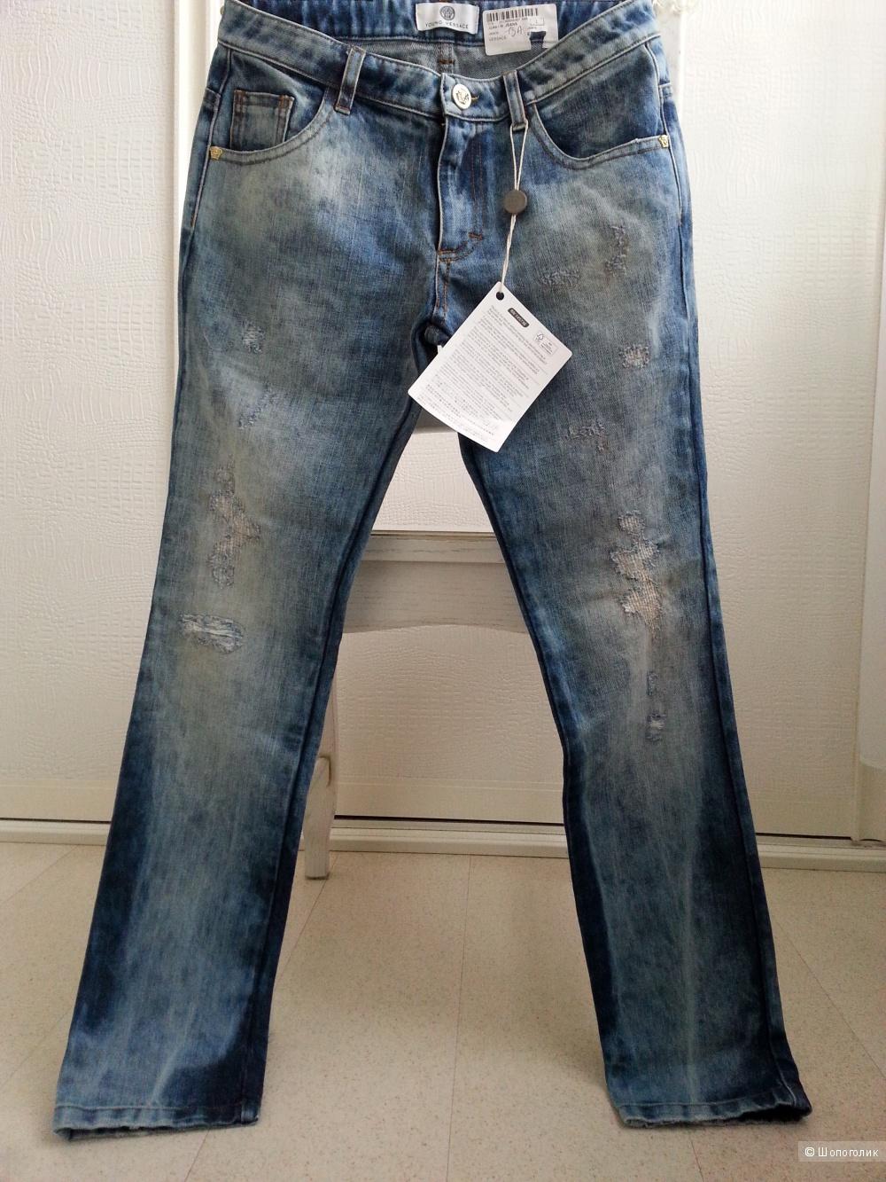 Джинсовые брюки VERSACE YOUNG, размер 13 Y (лет)