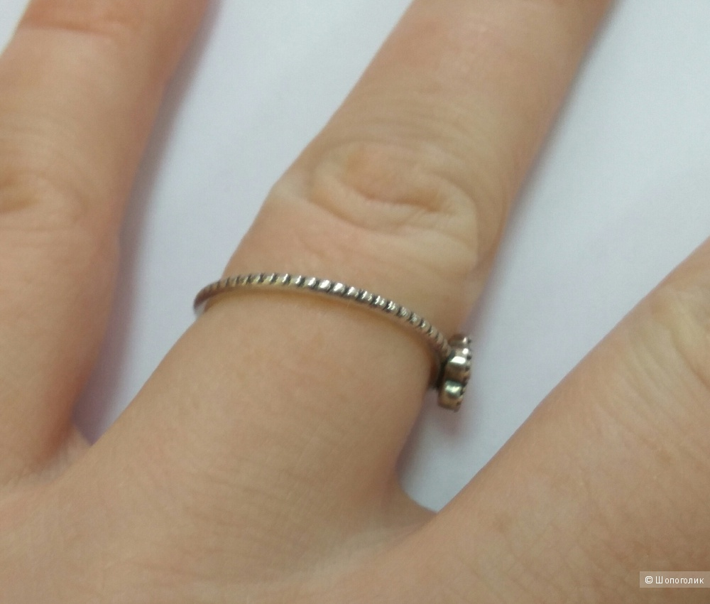 Кольцо, Pandora, серебро 925, 18-19 размер