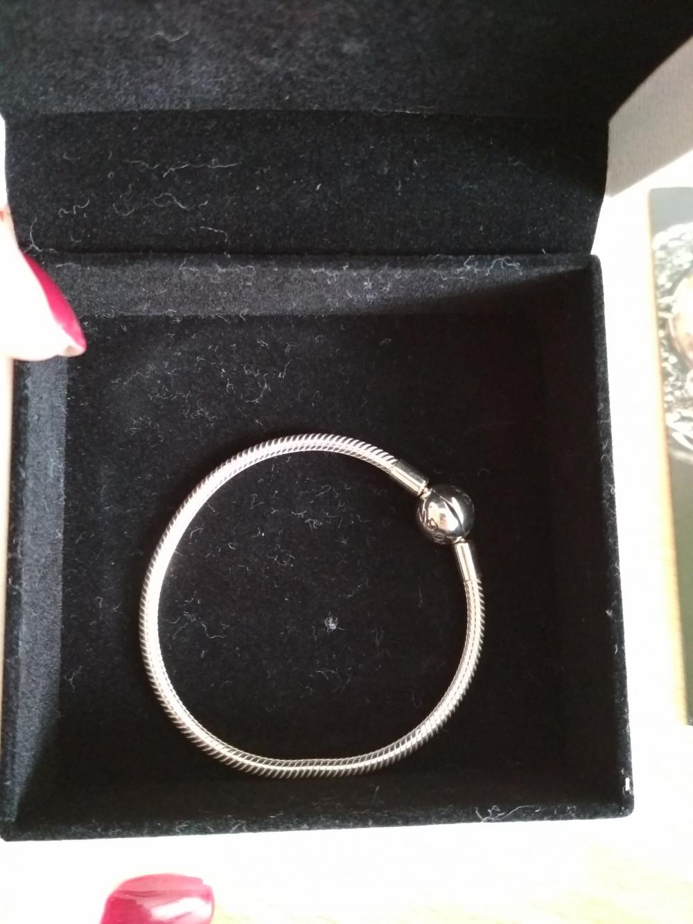 Оригинальный браслет Pandora на узкое запястье в 16 см.