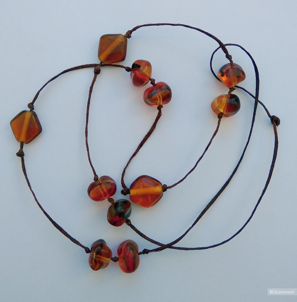 Ожерелье из чешских бусин