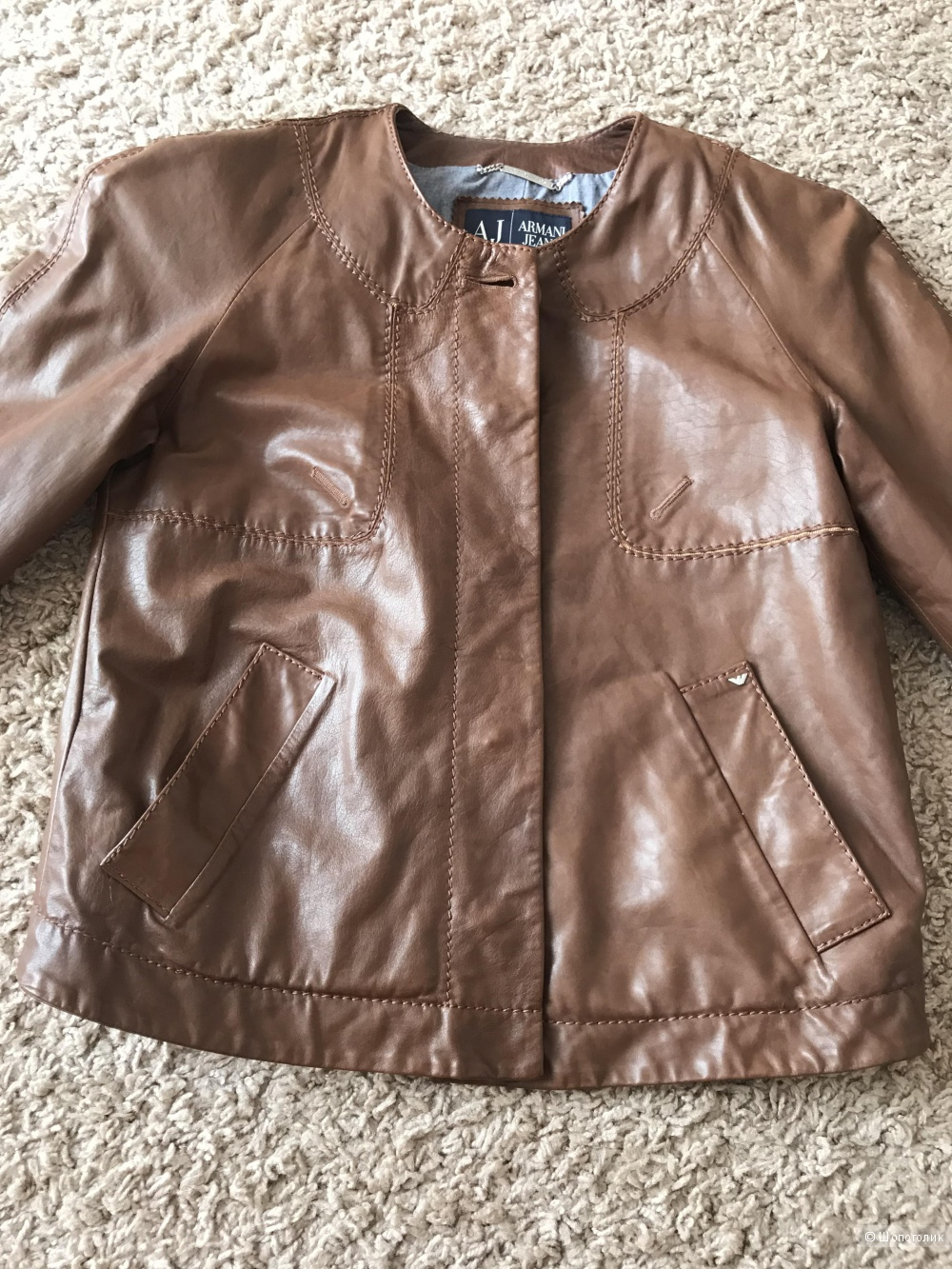 Куртка кожаная Armani Jeans 44-46 оригинал