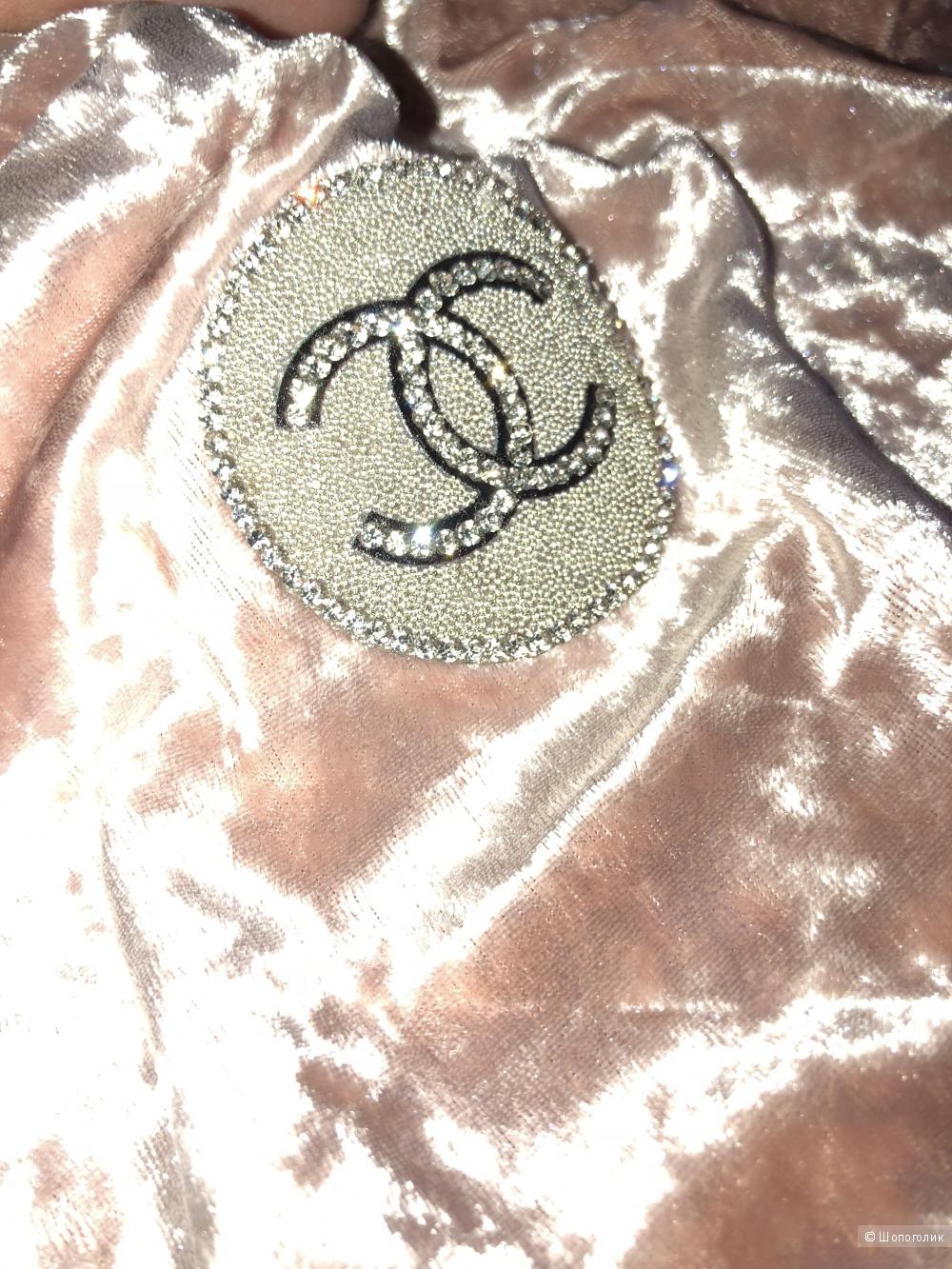 Костюм велюровый Chanel, oversize