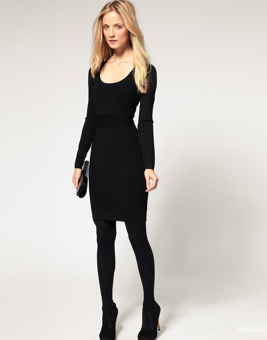 French Connection, черное бандажное  платье, 8UK