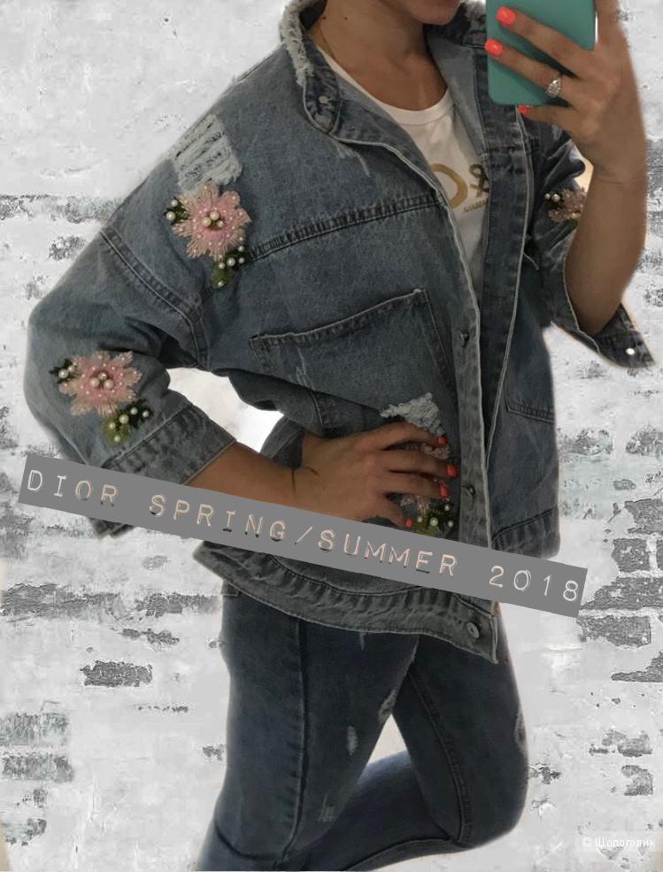 Куртка джинсовая DIOR, оверсайз