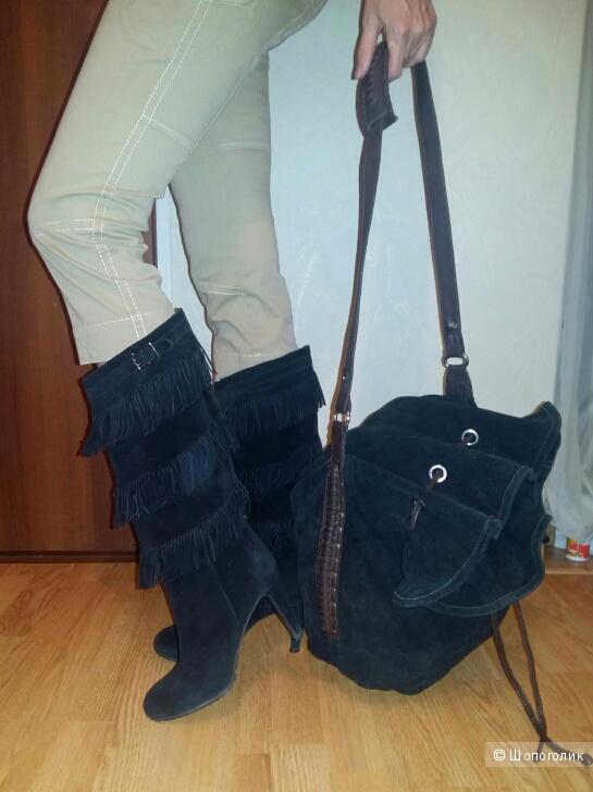 Сумка-мешок Zara замша