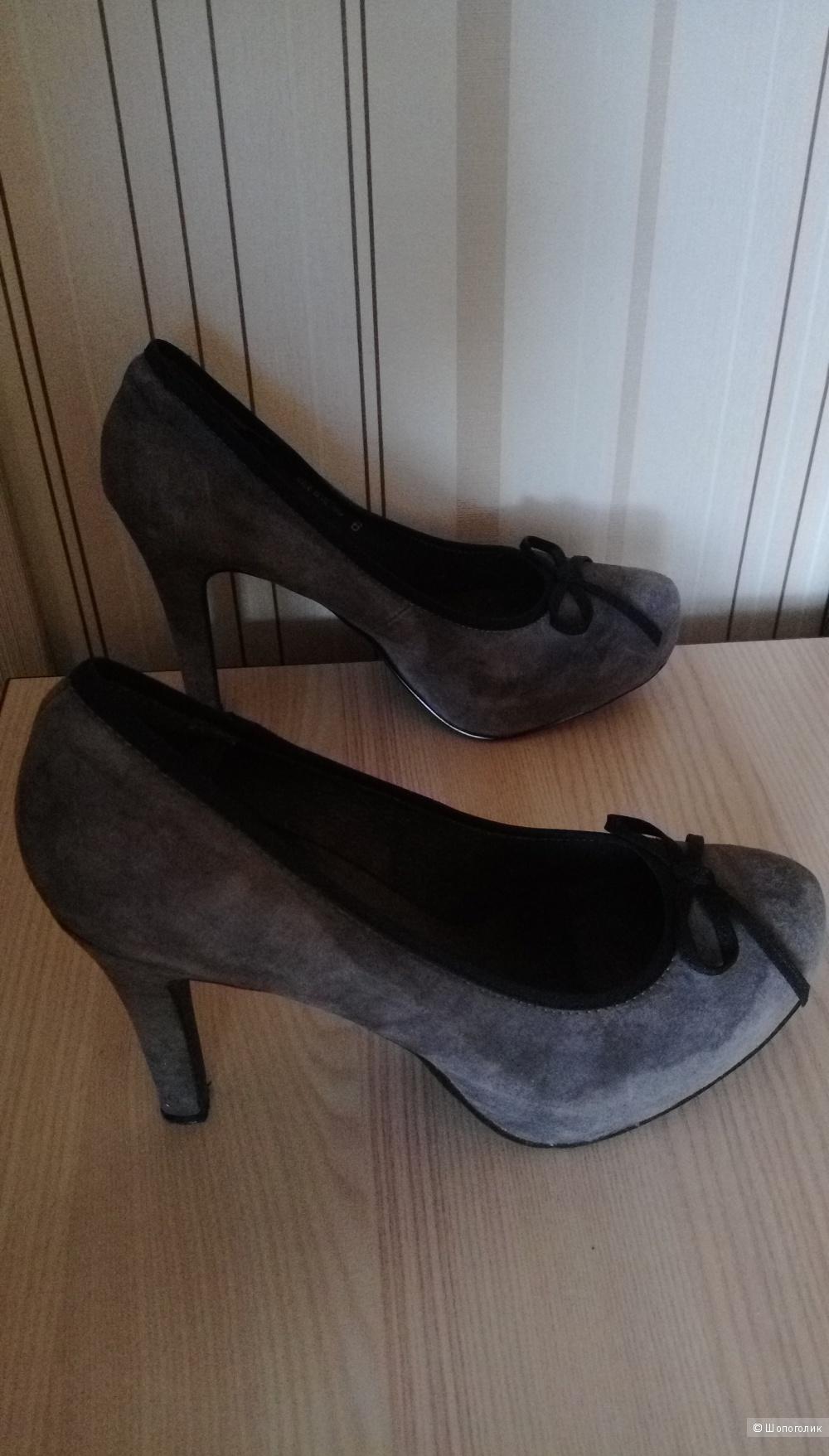 Туфли ASOS, серые, размер UK6