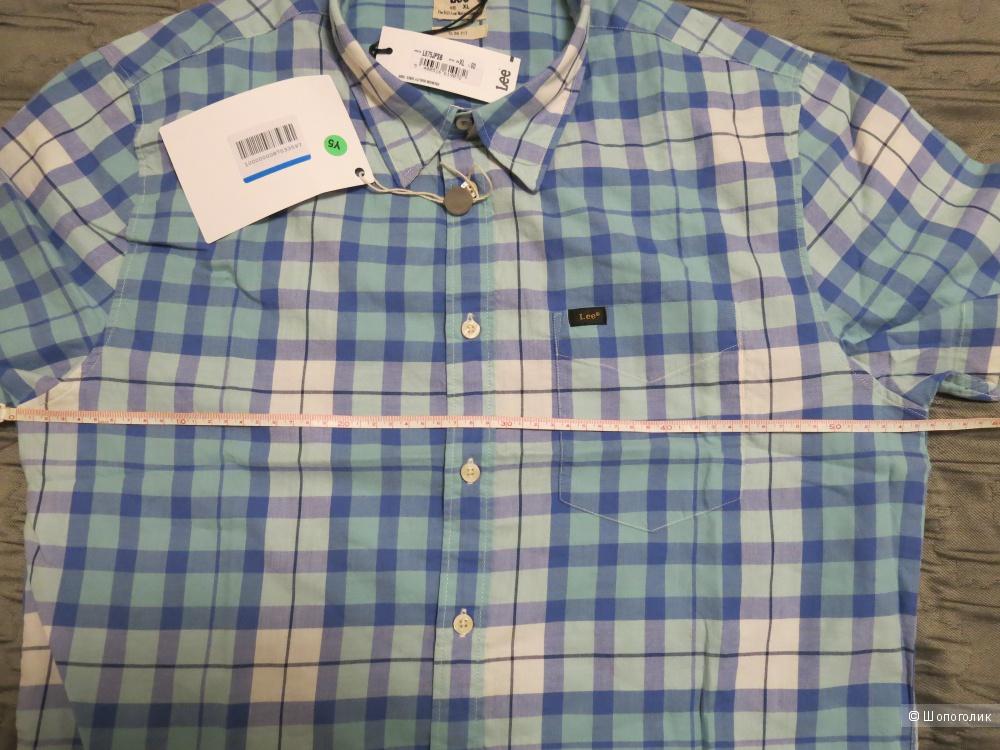 Рубашка мужская  в клетку LEE,   XL