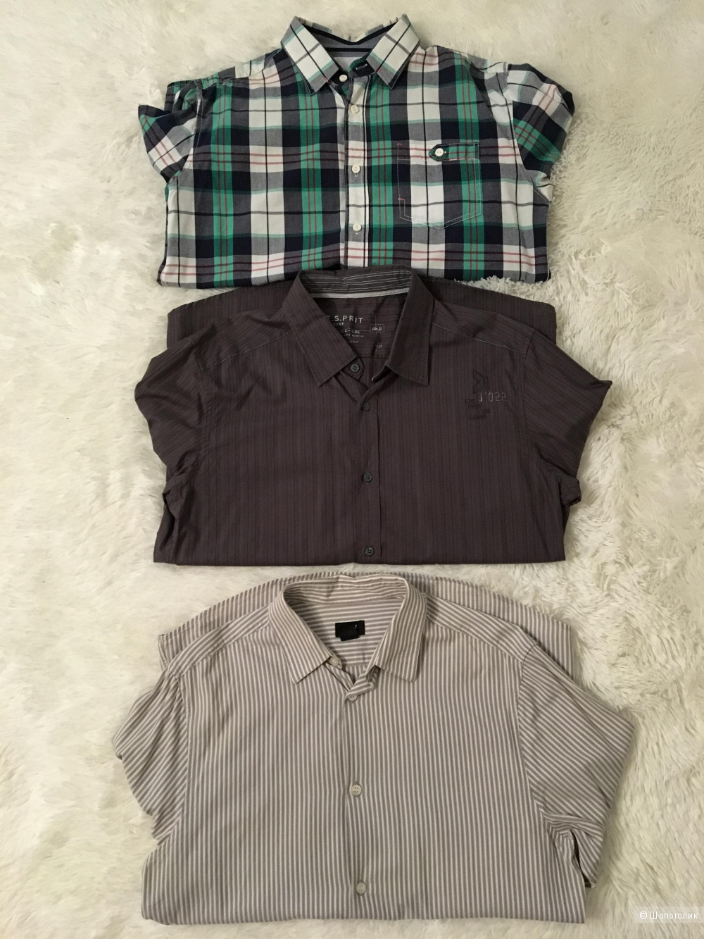 Сет из мужских рубашек Esprit, размер М+DND, размер М+ H&M, размер М