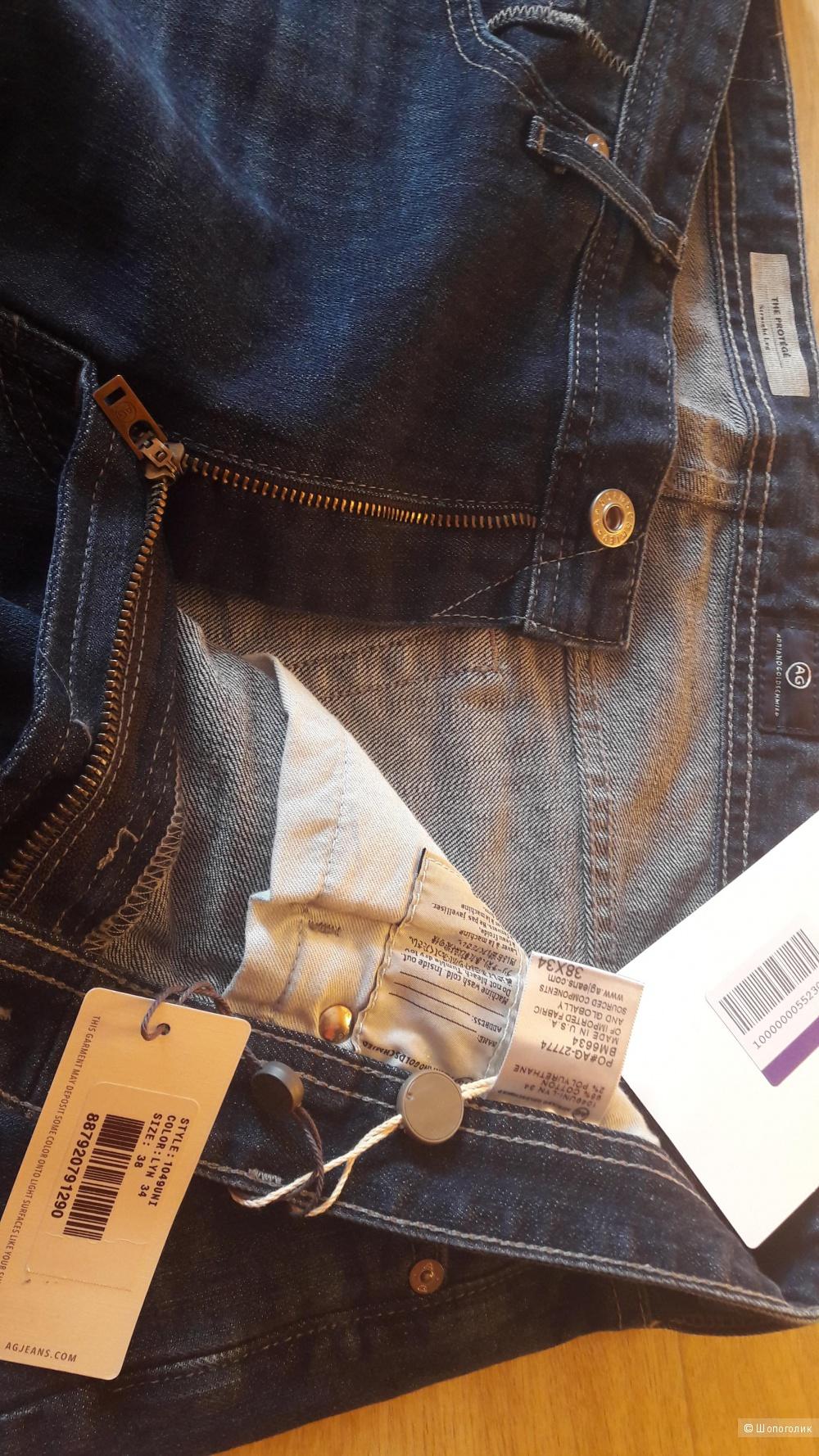 Джинсовые брюки AG ADRIANO GOLDSCHMIED, р. 52-54, USA