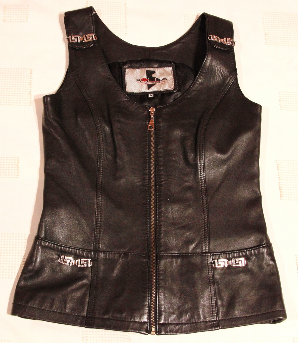 Кожаный жилет Bella Leather Club размер 44-46(М)