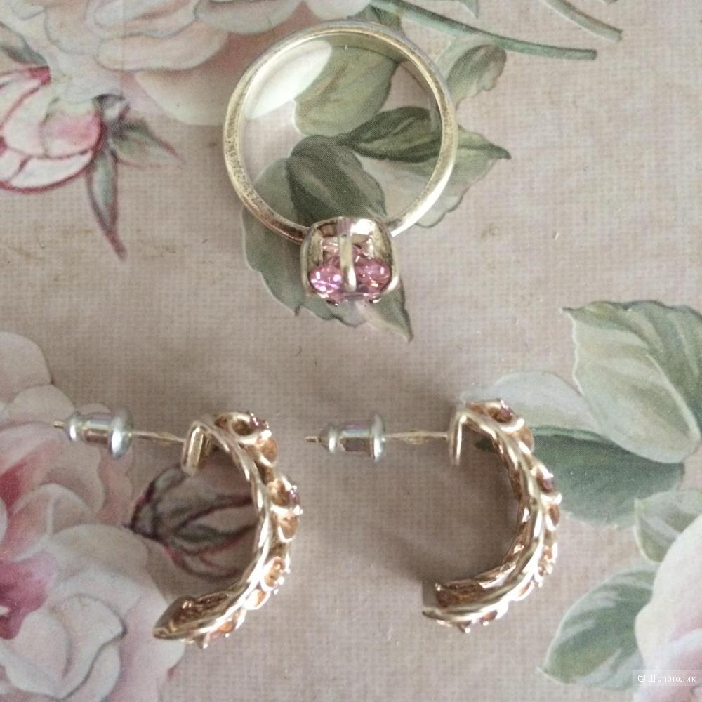 Серёжки и кольцо из серебра