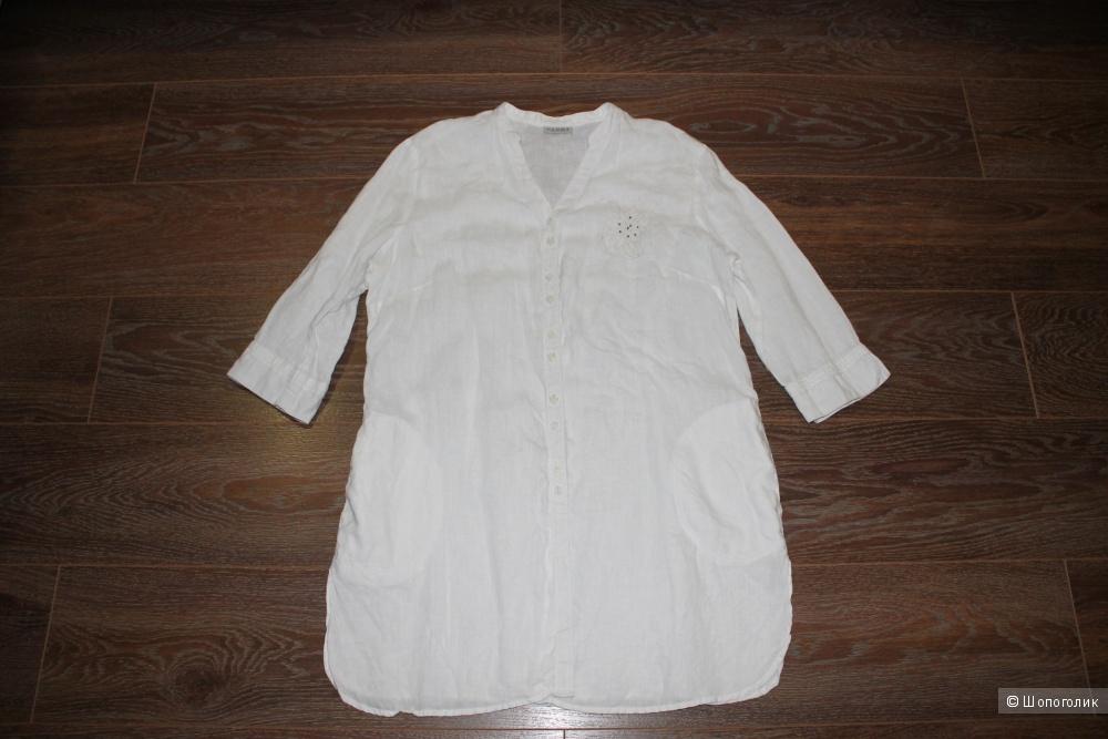 Льняная блузка-туника брена C.A.N.D.A, размер 50-52-54