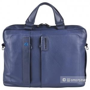 Кожаная деловая сумка Piquadro Pulse, габариты (см): 40 x 29