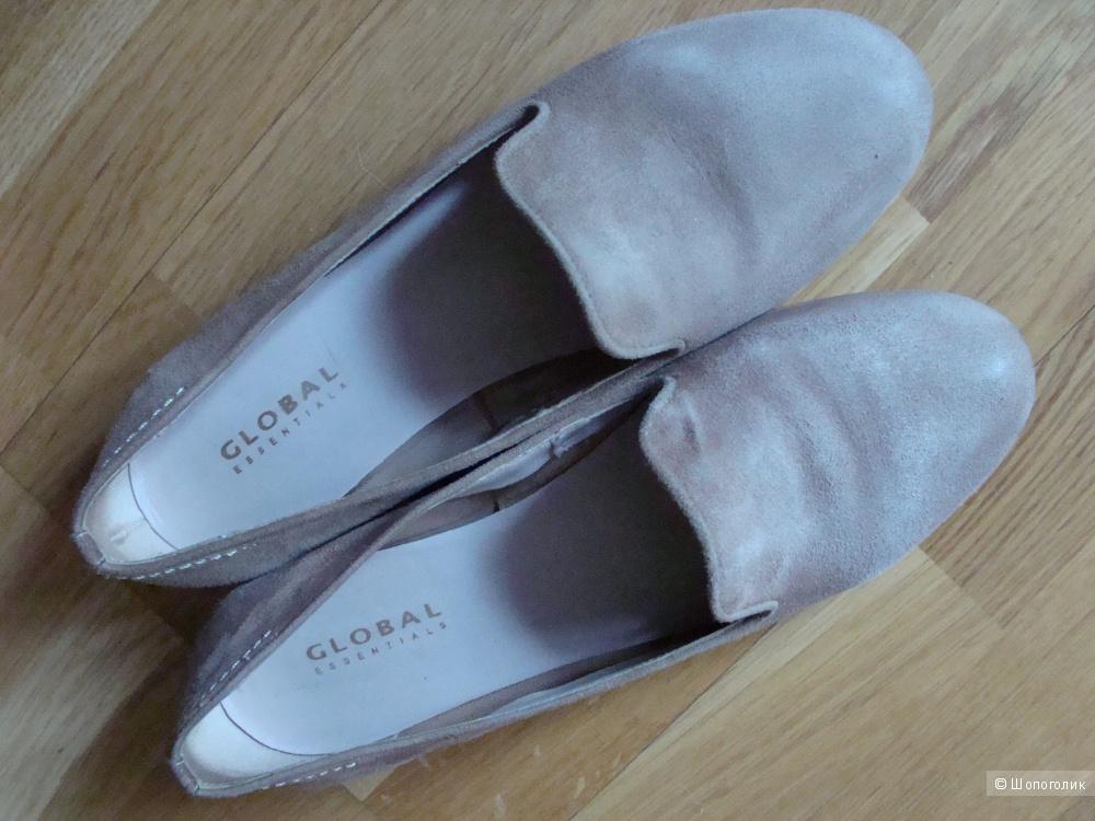 Замшевые лоферы балетки Global 37 размер
