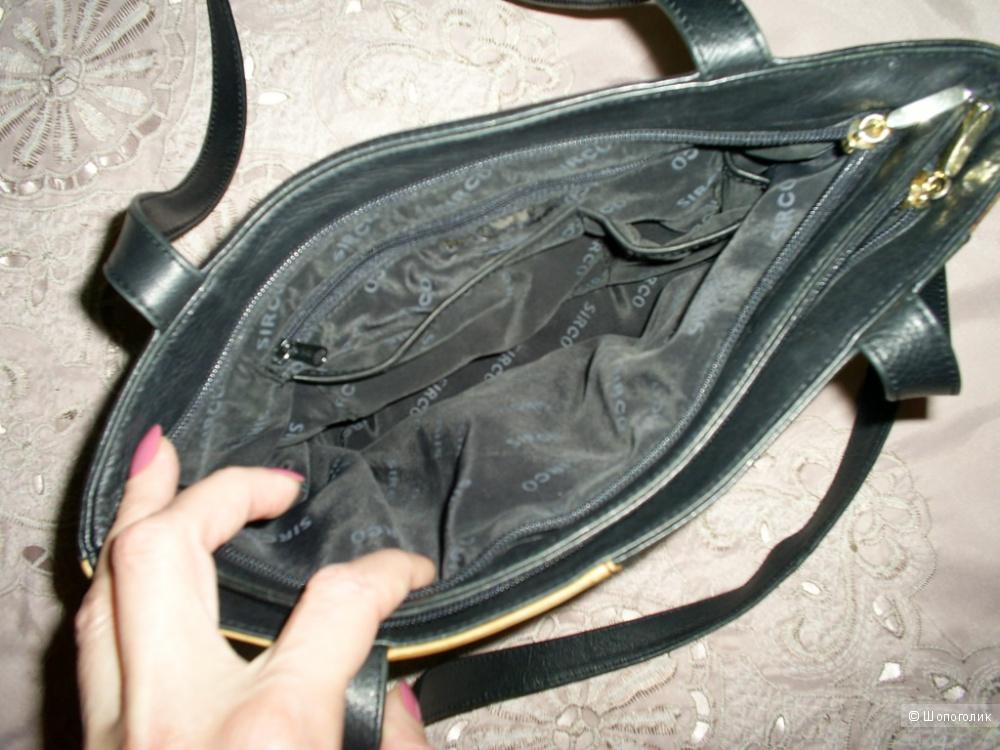 Кожаная сумка от Sirco 30-22 см.