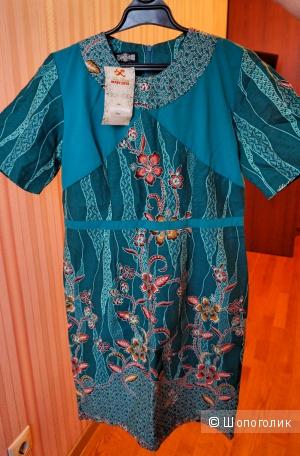Летнее платье футляр батик р. S 44