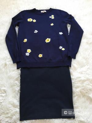 Комплект юбка Zara, размер S+Джемпер F&F, размер S
