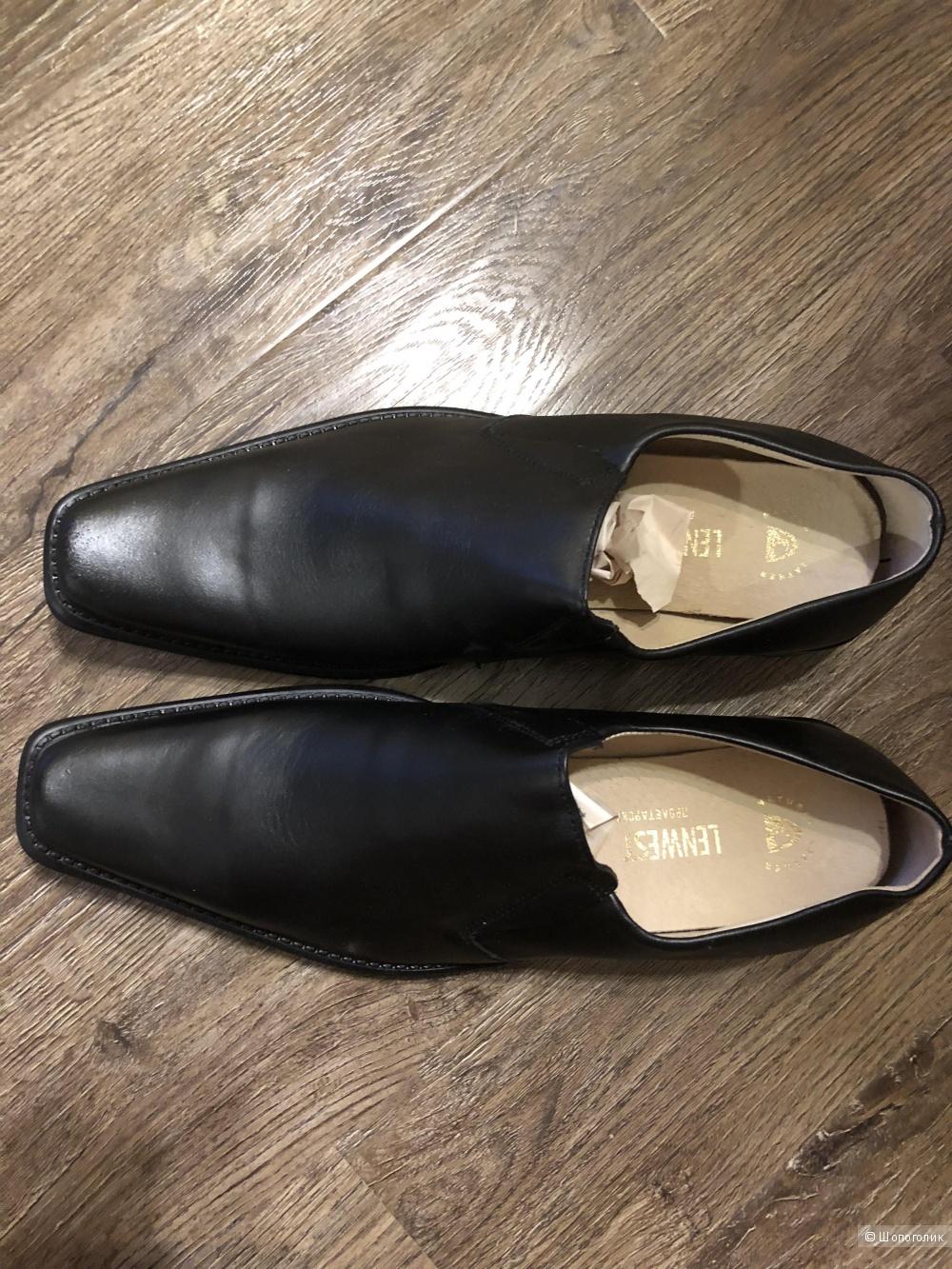 Кожаные туфли , Ленвест, 44 р.