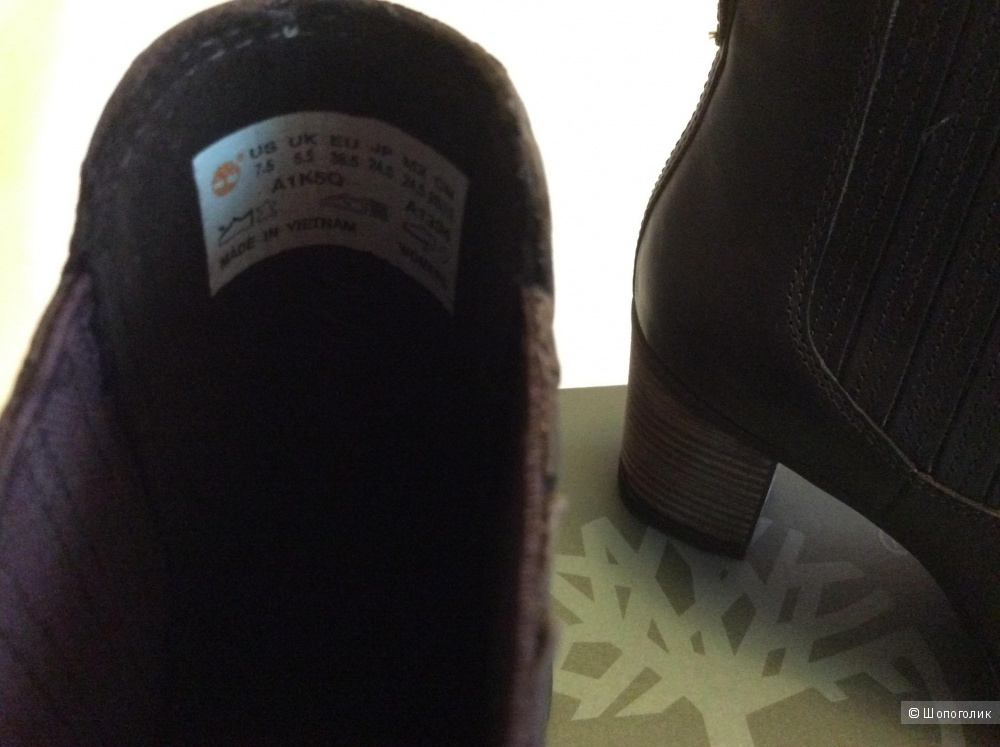Ботинки Timberland WOMEN'S ATLANTIC HEIGHTS CHELSEA BOOTS, размер 37,5-38, натуральная кожа.
