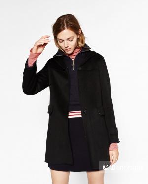 Пальто черное новое ZARA размер S