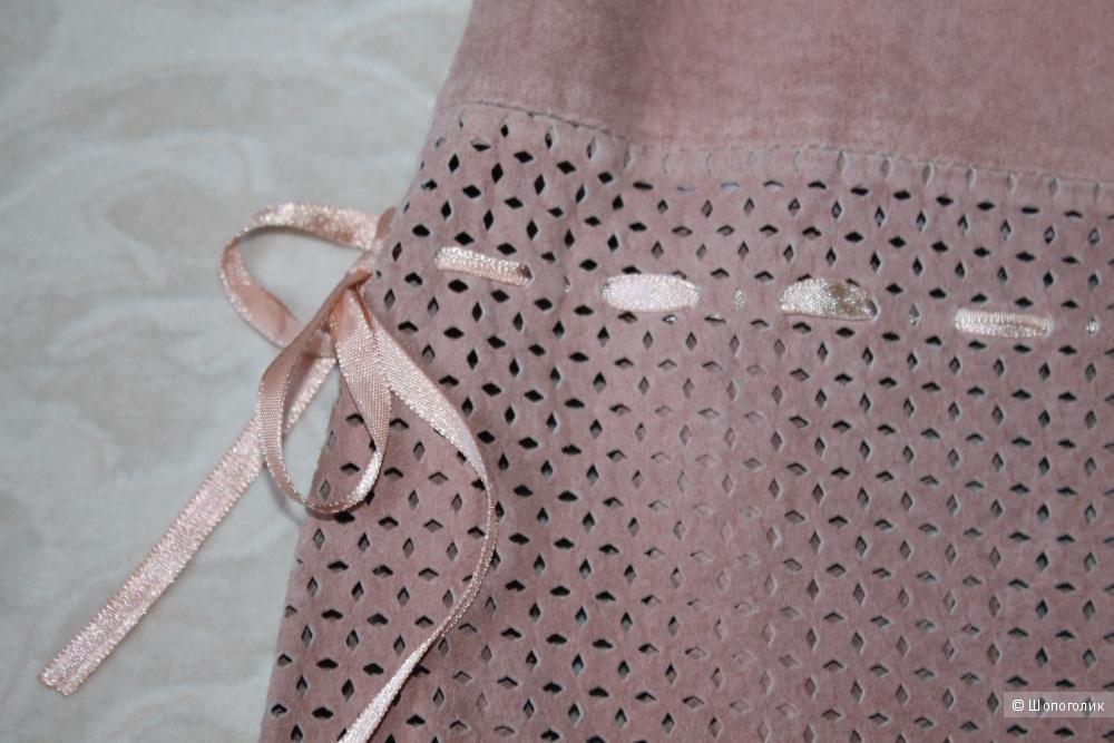 Замшевая юбка бренда KIT, размер евро 46