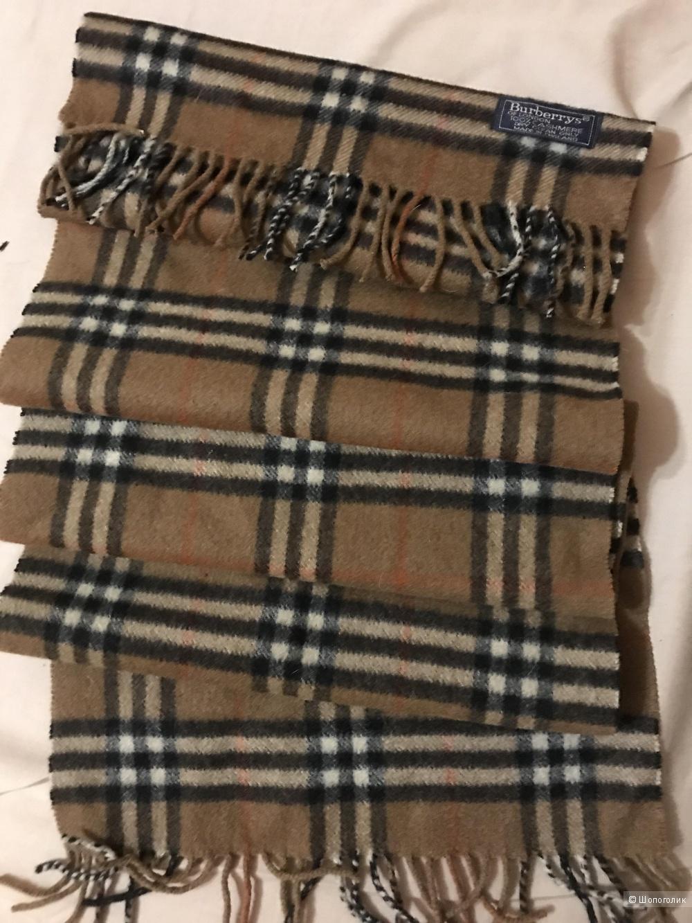 Кашемировый шарф Burberry 30*130 см.