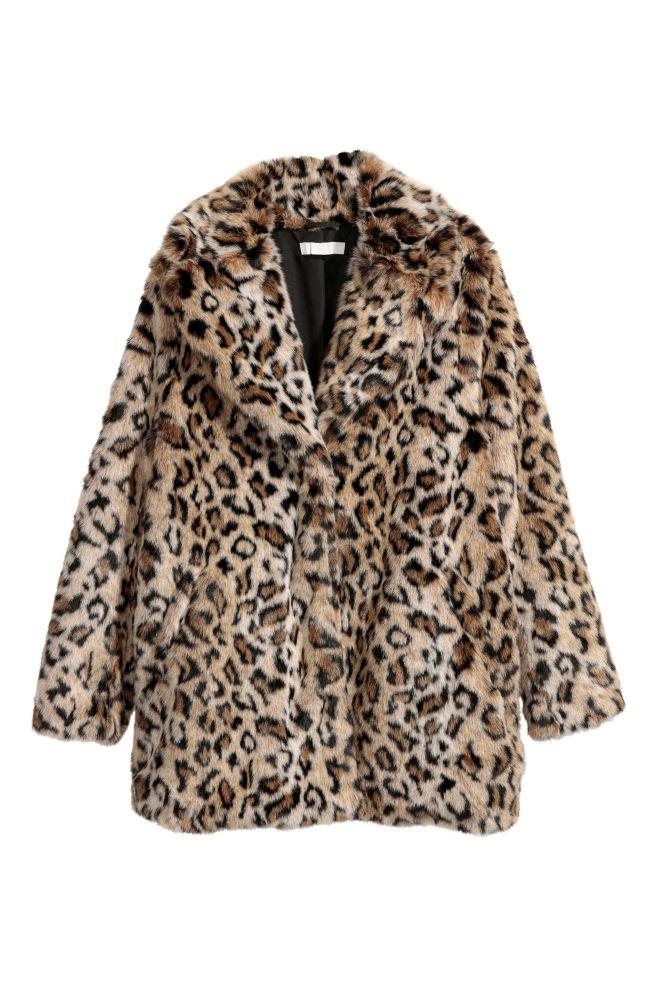 Леопардовое пальто HM 42 размер