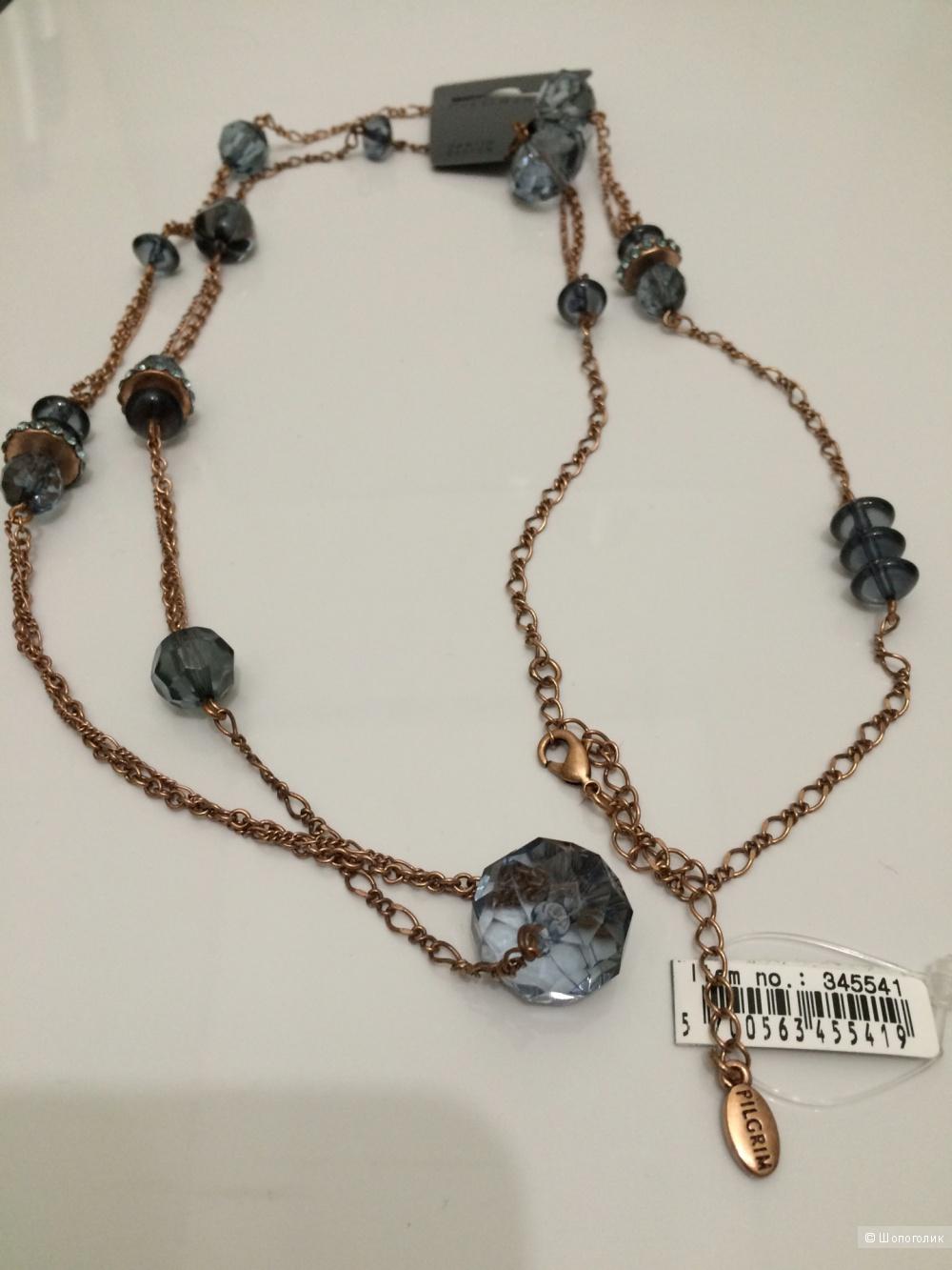Длинное ожерелье от Pilgrim с хрусталем
