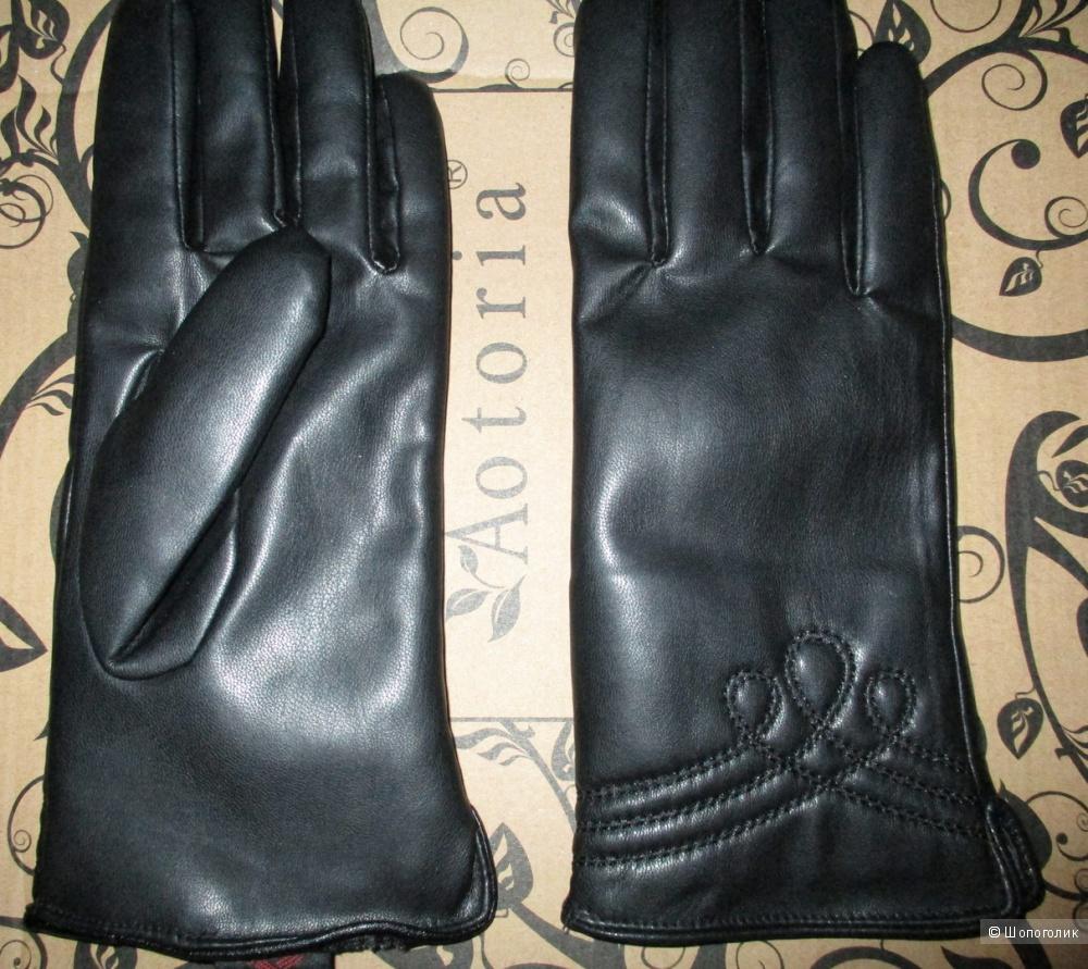 Перчатки кожаные Zolla (7/8 размер)