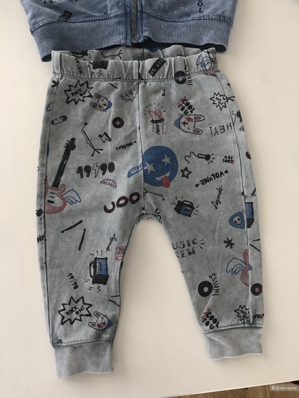 Детский костюм Zara размер 9-12 мес. 80 см.
