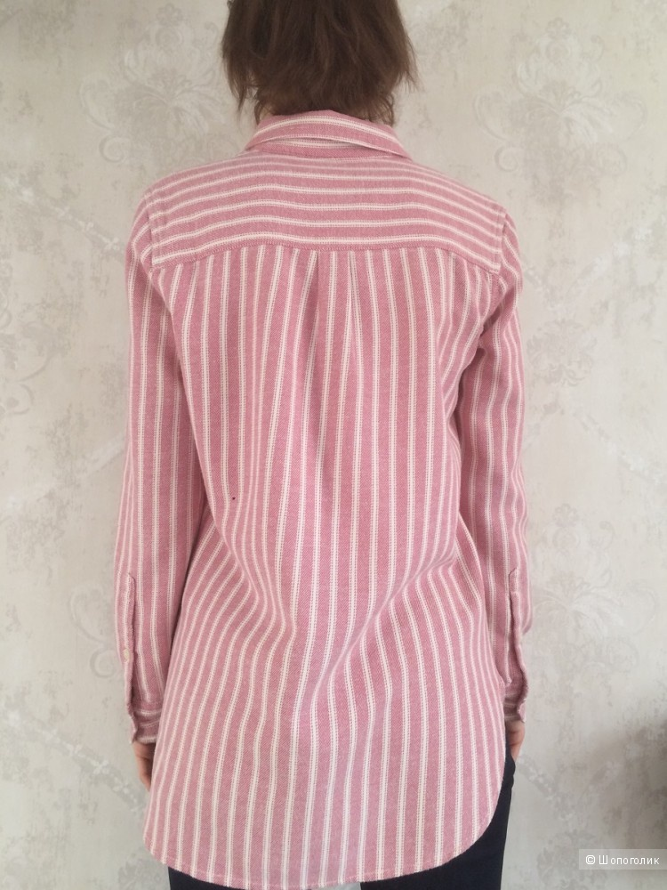 Фланелевая бойфренд рубашка Madewell размер S