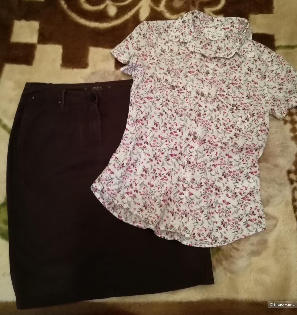 Юбка Mango р.M + рубашка H&M р.S