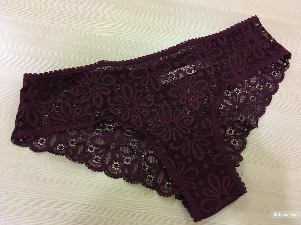 Кружевные трусики бикини, Victoria's Secret, размер S (сет из 3 штук)