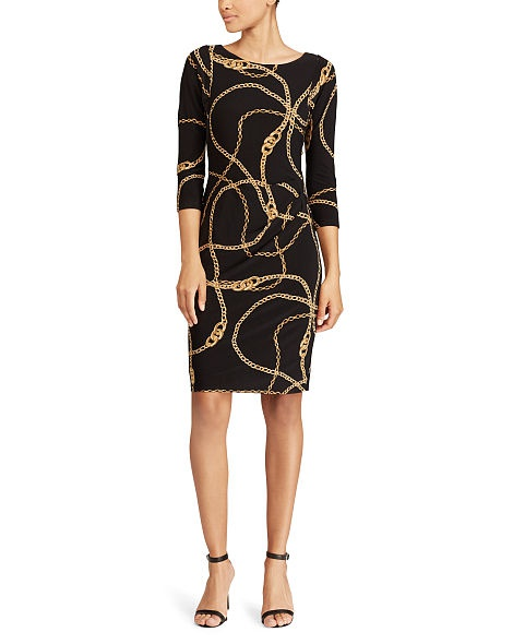 Платье  Ralph Lauren Equestrian-Print Jersey Dress размер 18W - 54-56-58 рус