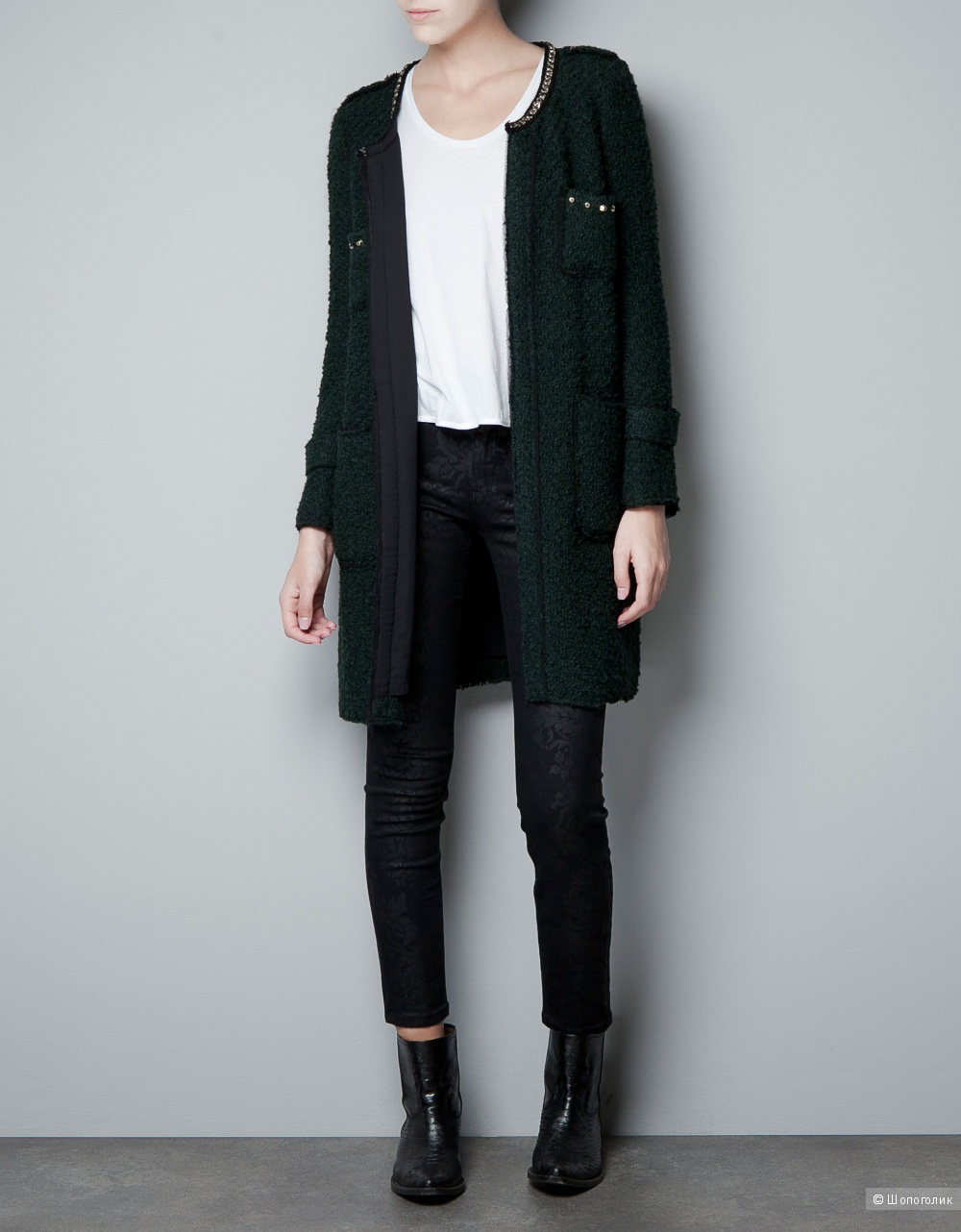 Пальто легкое ZARA WOMEN, размер S