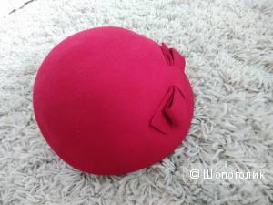 Шляпка, 100% шерсть, размер 58-59