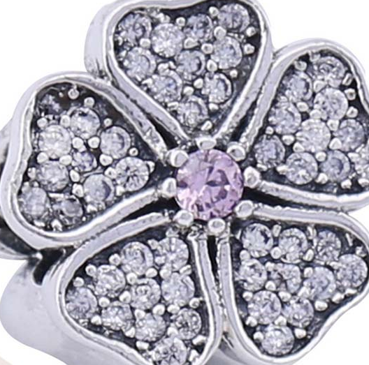 Шарм «Цветение яблони», серебро 925