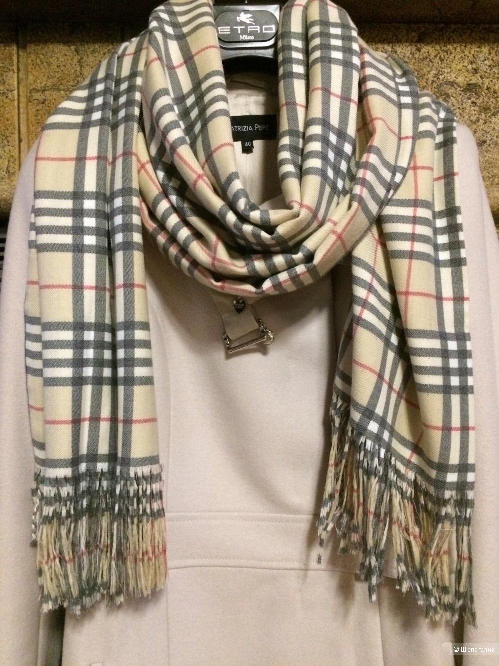 Пальто Patrizia Pepe,шарф и воротник в подарок,S