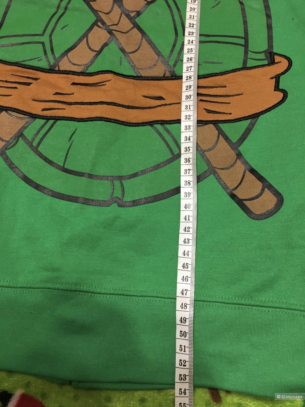 Детская толстовка Черепашки Ниндзя, размер S, на ребенка 8-9 лет.