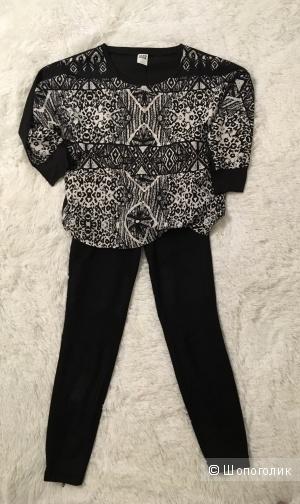 Комплект леггинсы-брюки Cambio, размер S+ Блузон Vero Moda, размер M