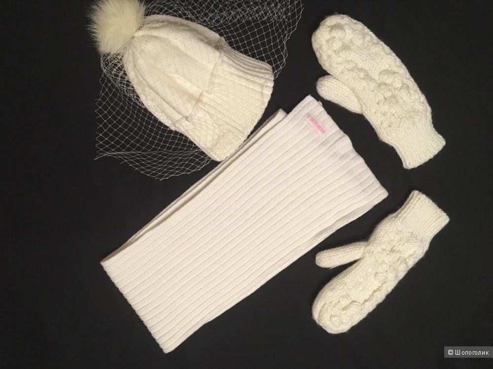 Сет из шарфа Adidas и варижек Твое. Плюс подарок шапка.