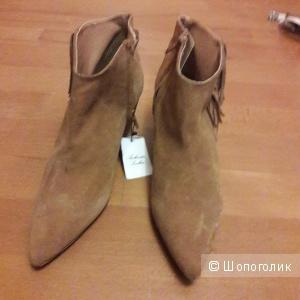 Замшевые ботинки Mango 39-39.5 размера