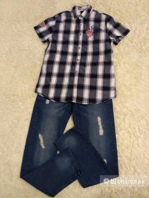 Сет  рубашка и джинсы, рост 152-158