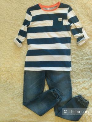 Сет джинсы и футболка, рост 152-158