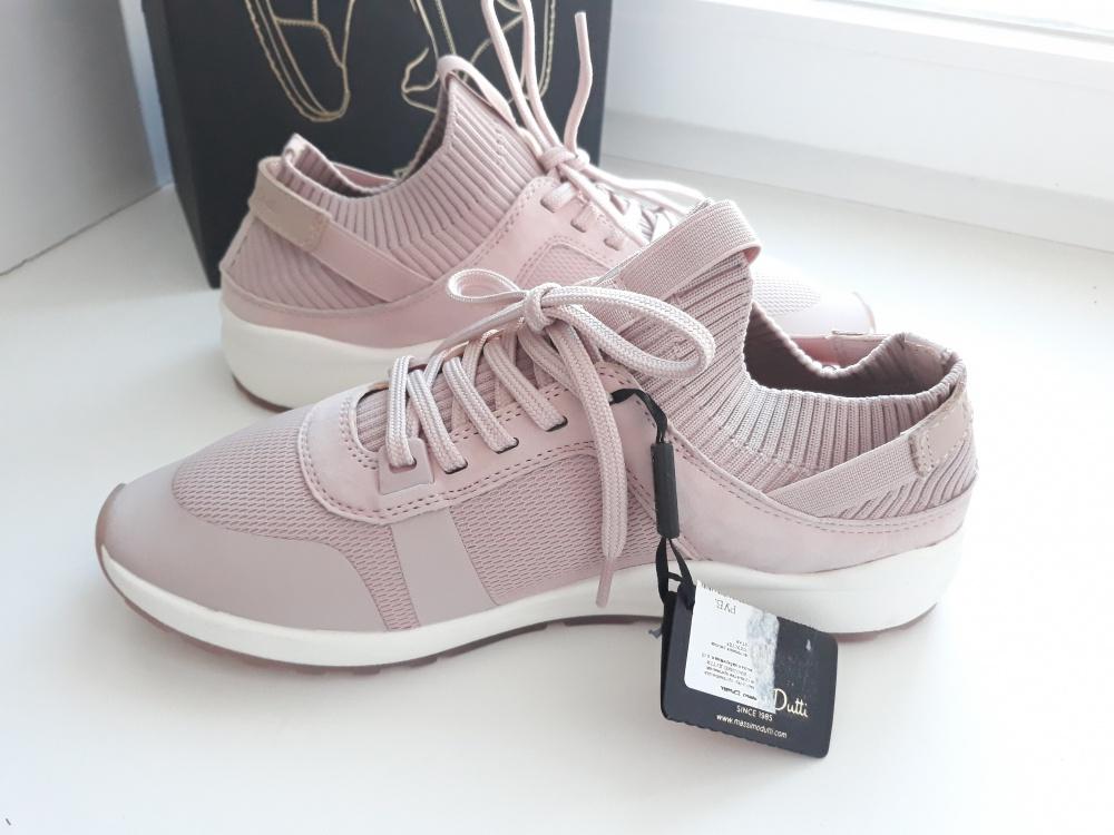 Кожаные кроссовки Massimo Dutti, размер 38