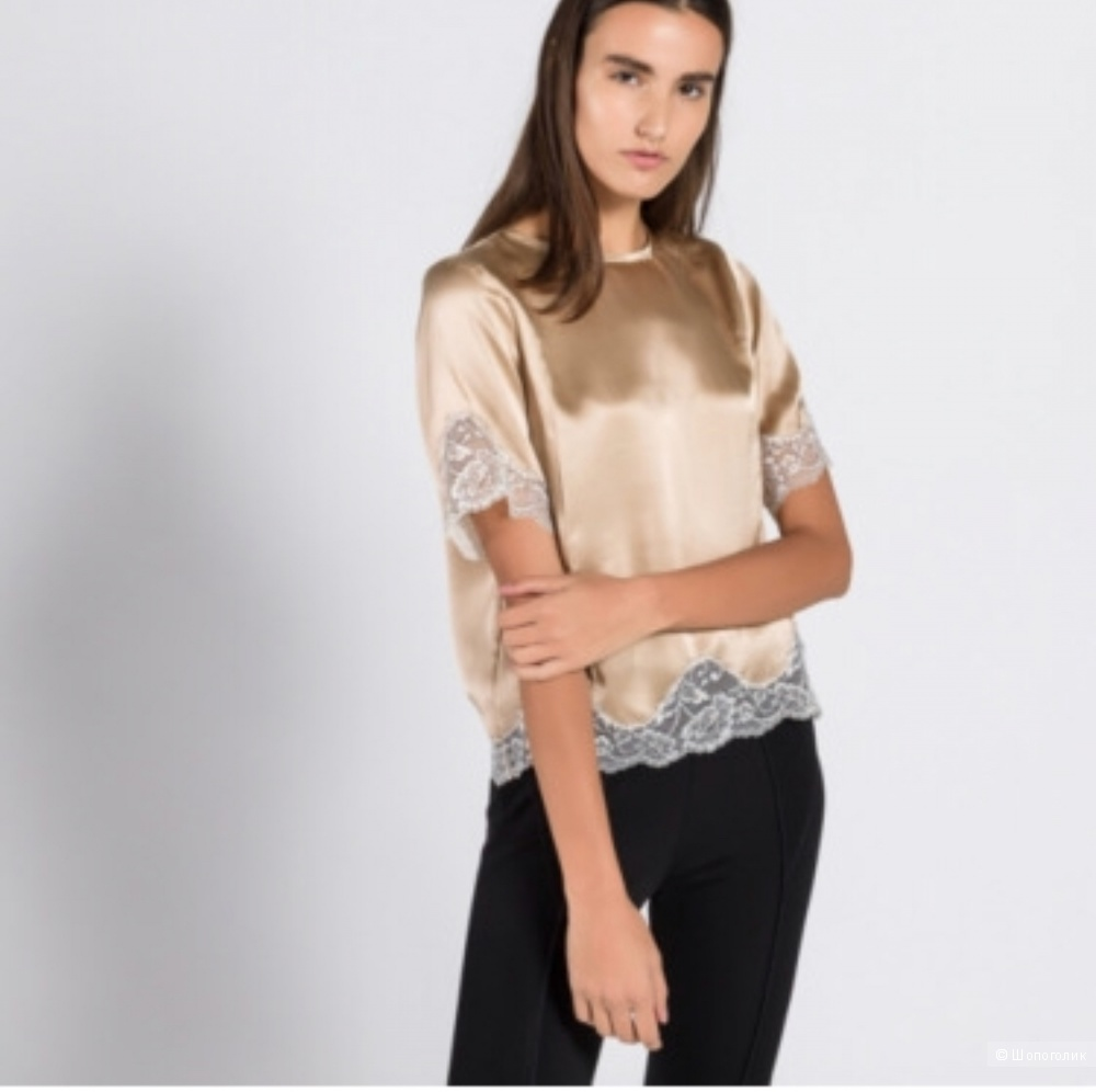 Шелковая блузка  Sandro размер 1 (42)