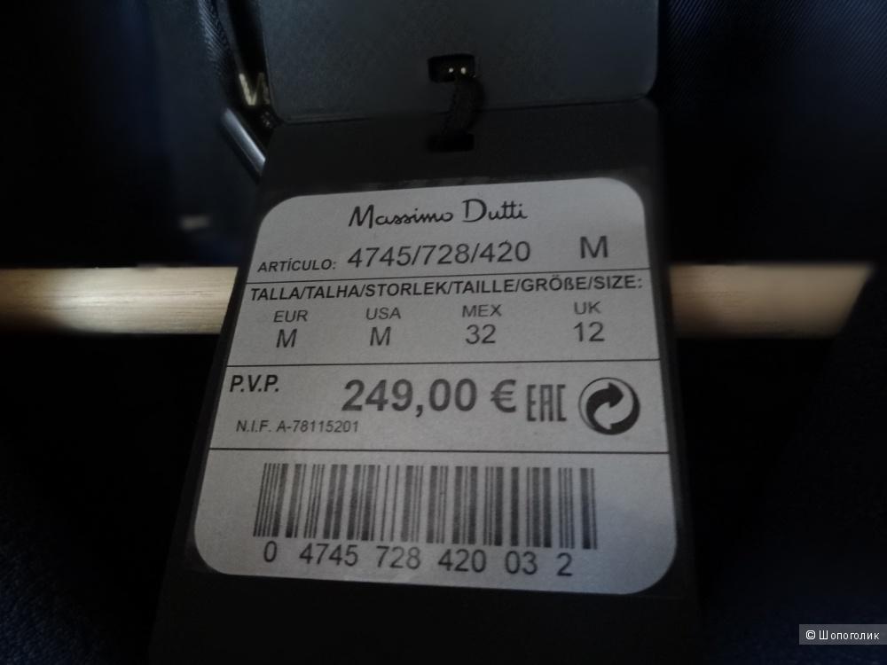 Кожаная куртка Massimo Dutti размер по маркировке М.