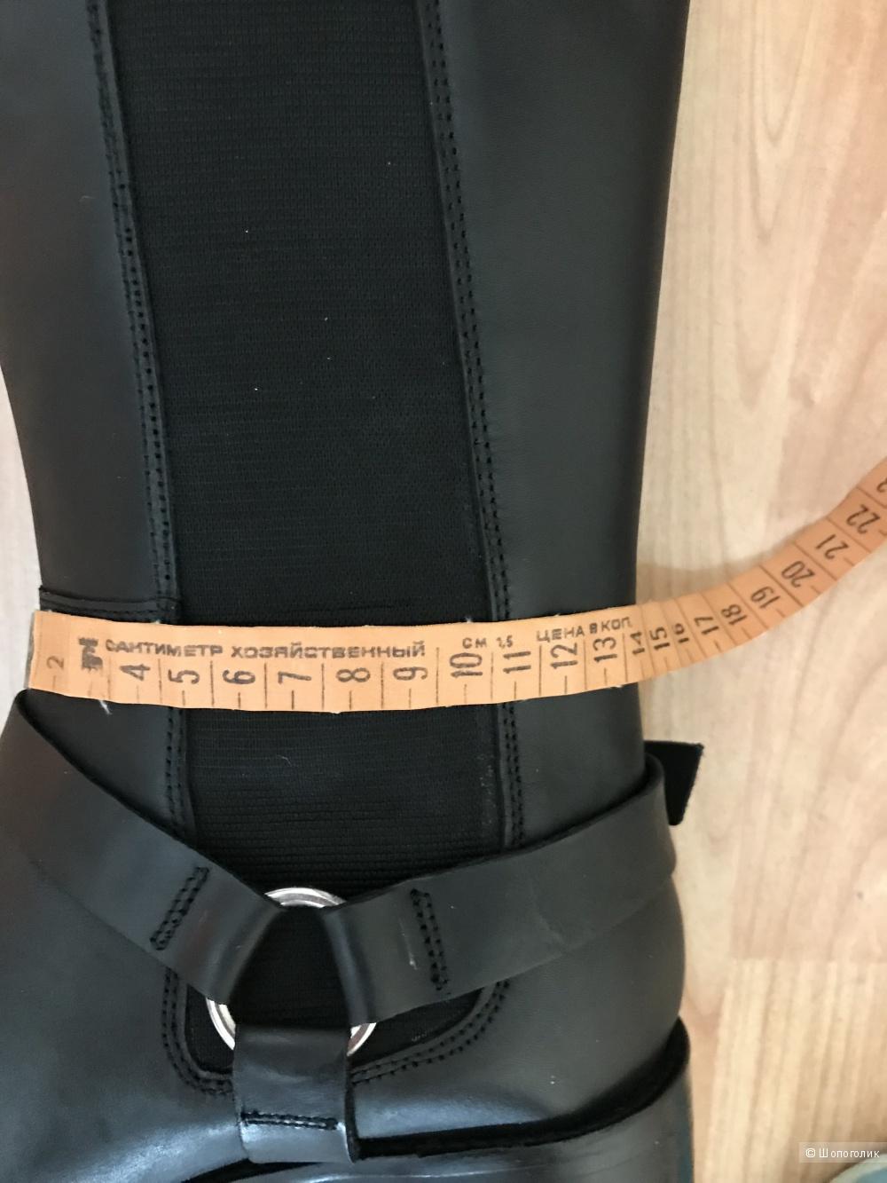 Кожаные сапоги для широкой стопы ASOS CURIOUS  6 uk,  39 eur