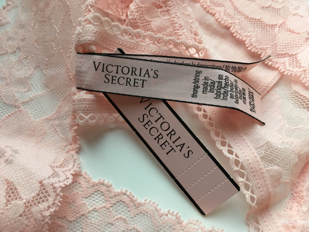 Кружевные стринги Victoria's Secret, размер S (сет из 2 штук)